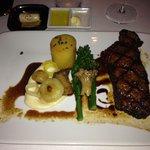 Chimichurri rojo NY strip w.confit potato, glazed cippolini, smoked cauliflower puree