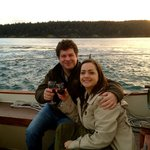 A lovely couple enjoys a Private Charter out of Friday Harbor!