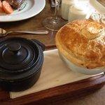 Steak & Guinness pie - awkwardly served