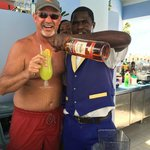 """Me and Jerry at the pool bar with a """"Cool Operator"""""""