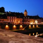 Montignac sur. Vezere by night, 4 mins drive away