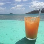 rum punch at happy island