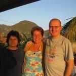 Con Ana Luisa, desde la terraza
