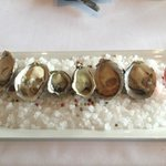 The oyster appetizer