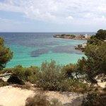 View from Cala Comtessa chiringuito