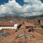 Rooftop view of Cusco from room 215