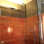 Walk-in rain shower