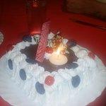 Mum's surprise birthday cake