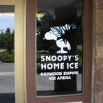 Snoopy's Home Ice entrance,  Charles Schulz Museum, May 2014