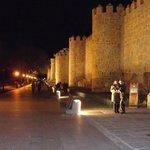 murallas de Avila de noche