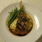 Grilled Veal Chop with Truffled Demi Glace
