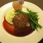 Bleu Cheese Stuffed Filet Mignon with Port Wine Reduction