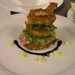 Fried Green Tomatoes with Prosciutto and Basil Aioli