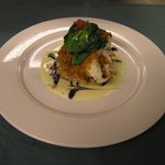 Broiled Haddock with Sundried Tomato Crust and Balsamic Beurre Blanc