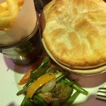Yummy steak & kidney pie.