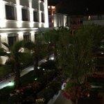 Hotel's garden in the evening