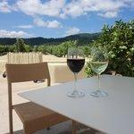 ぶどう畑を楽しみながらワインを堪能