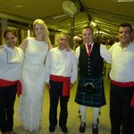 This is photo of us with Greek dancers that were arranged through Christine for our wedding