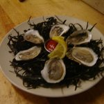 Fresh oysters on the half shell, the freshest seafood around!!!!!