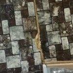 broken dirty old tile