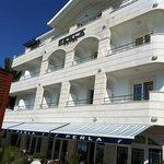 Perla hotel from the beach