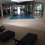 Very warm lovely indoor pool