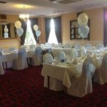 the room decorated at the Gretna chase by the Gretna flower basket :-)