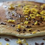 Olive Oil Pancakes with Dark Chocolate and Sea Salt
