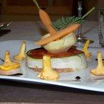 Pressé d'agneau de Provence,  Cuit 7 heures, riste d'aubergines et demi glace de veau aux piment
