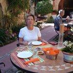 breakfast in the patio