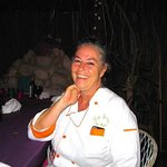 Lolo radiant after dinner