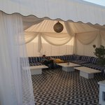 Tent on rooftop terrace