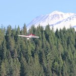 Landing Large RC plane----Mount Shasta Background