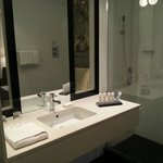 Bathroom with toiletries