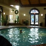 Warm indoor pool! They also have an outdoor pool during the warmer months with a slide!