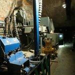 Salt mine old machinery