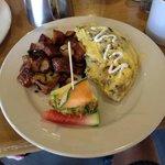 wild mushroom omelette