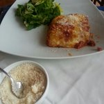 Lasagna with salad on the side
