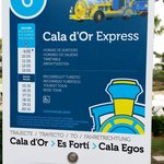 Train bus thing to cala d'or