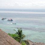 バンガローからの海の眺め