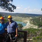 Ruddy and Me at Lake Travis Zipline Adventures