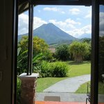 The view from the door of our 'cabin'