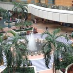 The view of the airport concourse from our balcony