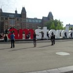 Letreiro I Amsterdam em frente ao Reijksmuseum.