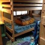 The bunks in the bunkhouse