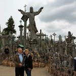 Lynda and I at the Hill of Crosses