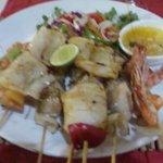 Seafood dinner.