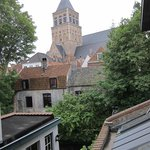 view of st jacob's church from our room