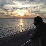 Sunset from balcony of Nautilus .