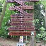 Path markers near Waldcafe